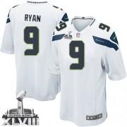 NFL Jon Ryan Seattle Seahawks Youth Elite Road Super Bowl XLVIII Nike Jersey - White