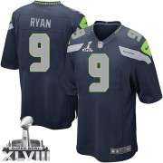 NFL Jon Ryan Seattle Seahawks Youth Limited Team Color Home Super Bowl XLVIII Nike Jersey - Navy Blue