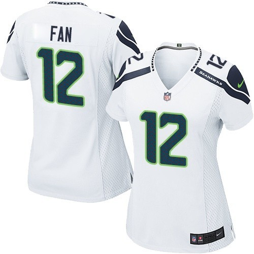 NFL 12th Fan Seattle Seahawks Women's Game Road Nike Jersey - White